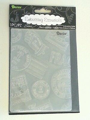 "Darice Embossing Folder - Travel Icon Background - 1218-27 - 4.25"" X 5.75"" - Nip"