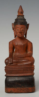 18th Century, Khmer Wooden Seated Buddha