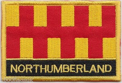 Northumberland County Flag Embroidered Patch Badge - Sew or Iron on