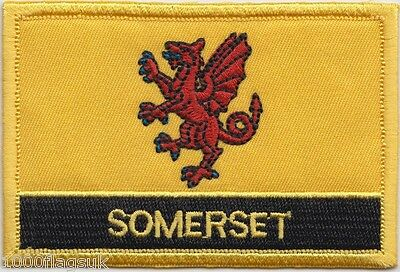 Somerset County Flag Embroidered Patch Badge - Sew or Iron on