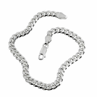 SOLID STERLING SILVER CURB BRACELET PREMIUM QUALITY 5.10mm BOYS AND MENS SIZES