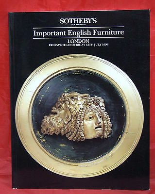 Sotheby's Catalog Important English Furniture London 1990 Sothebys July 6 and 13
