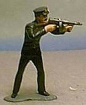 TOY SOLDIERS AMERICAN 1930'S AMERICAN POLICE OFFICER FIRING TOMMY GUN 54 MM