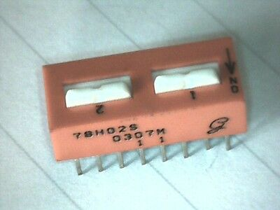 DIP Schalter 2x 4pol On/Off Grayhill 78H02S 4PST DIP-Switch