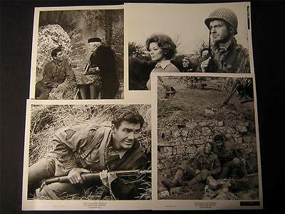 1965 Cliff Robertson Up From The Beach VINTAGE 4 WW2 MOVIE PHOTO LOT 741W