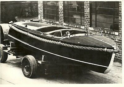 Boat On Trailer Period Photograph.