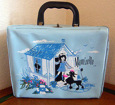 1971 Mam'zelle Vinly Lunch Box Aladdin Industries Extra Nice For Vinly Look