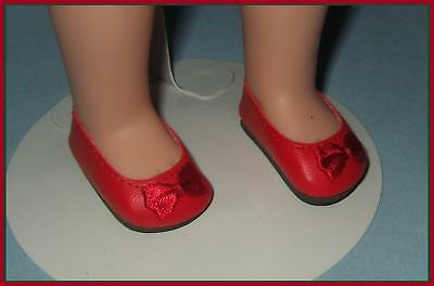 "RED Slip On Flats SHOES for Ideal P-90 14"" Betsy McCall & TONI"
