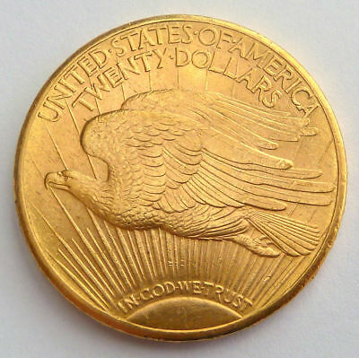 USA 20 GOLD DOLLARS DOUBLE EAGLE 1911 D 33.43 gr.  0.9675 oz.  0.900 gold   UNC