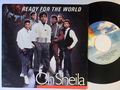 Ready For The World 45 w/ps OH SHEILA / THE ONE WHO LOVES YOU ~ VG++