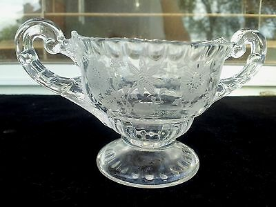 Crystal Cambridge Wildflower Individual Sugar Bowl