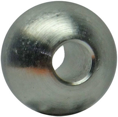 "Five 3/4"" aluminum balls drilled 1/4"" slip fit through hole"