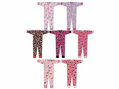 Kids Girls Disney 100% Cotton All In One Pyjamas Onezee  Pjs Nightwear Onezie