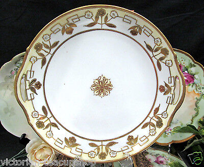 NIPPON BEADED GOLD GILT HAND PAINTED LARGE PLATE CHARGER
