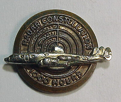 USAF Lockheed Radar Constellation 1000 Hour Service Pin