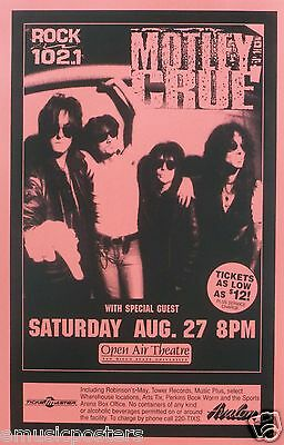 MOTLEY CRUE 1994 SAN DIEGO CONCERT TOUR POSTER - Group Hanging On Each Other
