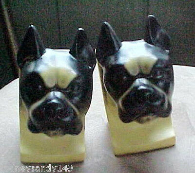 "Heavy set of Cute Plaster Boxers Bookends  6 1/2"" high by 3"" wide"