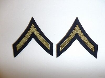 1067p WW 2 US Army & Air Force Private First Class PFC Chevrons OD pair R1B