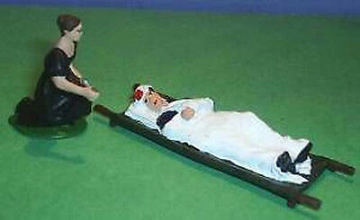 TOY SOLDIERS METAL AMERICAN CIVIL WAR MEDICAL NURSE & WOUNDED SOLDIER 54M