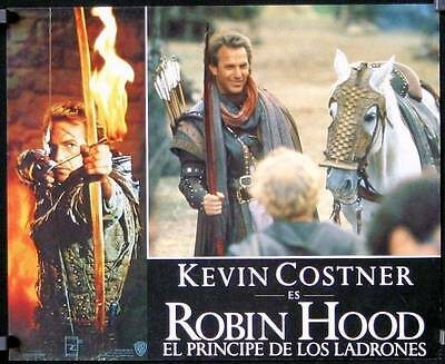 L243 ROBIN HOOD PRINCE OF THIEVES Mexican movie Lobby card '91 Kevin Costner