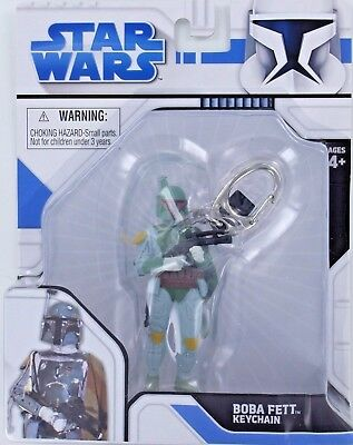 Star Wars BOBA FETT Keychain Keyring Mandolorian Bounty Hunter S2 Retired New