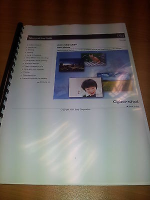 Sony Cybershot Dsc-Hx9/hx9V Printed Instruction Manual User Guide 289 Pages