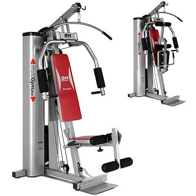 BH Fitness Plus Titanium Home Multi Gym Machine - 70kg Weight Stack