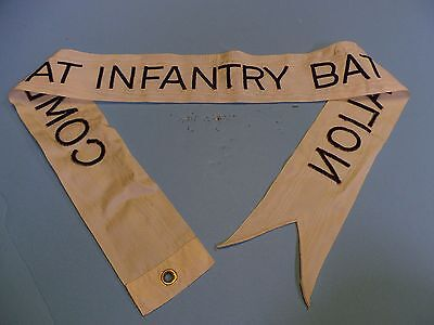 st184 US Army Flag Streamer White Combat Infantry Battalion Local Made