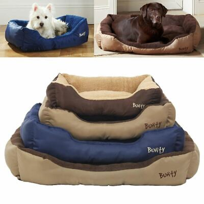 Bunty Deluxe Soft Washable Dog Pet Warm Basket Bed Cushion with Fleece Lining