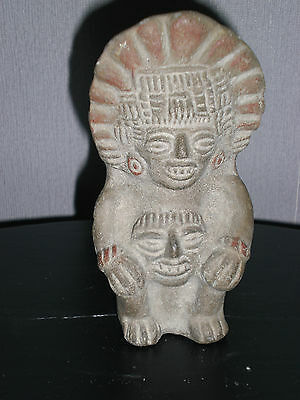 Ancienne Petite Statuette Urne Mexicaine