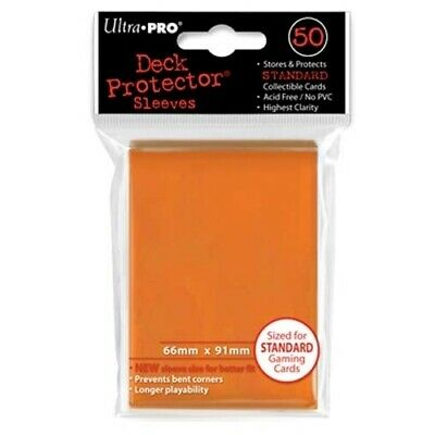 Ultra Pro 50 Standard Deck Protector Sleeves Lime Orange 82673
