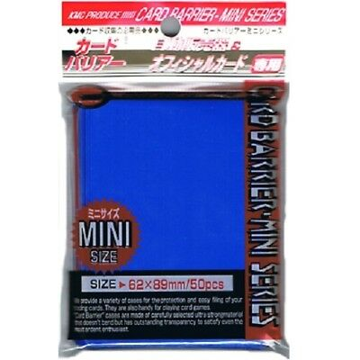 Kmc 50 Small Size Yugioh Card Barrier Sleeves Deck Protectors - Mini Blue