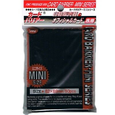 Kmc 50 Small Size Yugioh Card Barrier Sleeves Deck Protectors - Mini Black