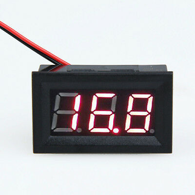 """0.56"""" LCD DC 3.2-30V Red LED Panel Meter Digital Volt Voltmeter with Two-wire"""