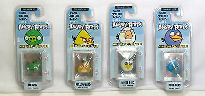Glass World Angry Birds Hand Crafted Mini Glass Sculpture Figure *New