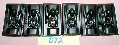 "(6) F1   1960 Vintage Slot Car Driver interior by Booth #072 NOS 1 1/4"" X 2 1/2"""