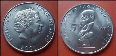 Cook Islands 2000 5 Cents Uncirculated (KM369)