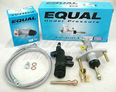 Exedy Slave, Master Cylinder & Stainless Clutch Line Kit 1992-1995 Honda Civic