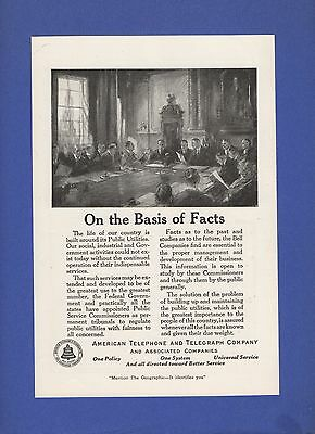 1921 Magazine Ad #7970 AT&T Bell Telephone System Public Utilities Board