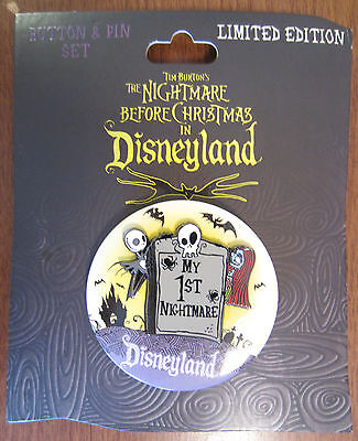 Disney Nightmare In Disneyland Pin Event NBC MY 1ST SET BUTTON LE750