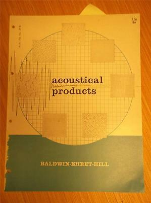 Baldwin-Ehret-Hill Catalog~BEH Acoustical ProductsTiles~Asbestos~1961