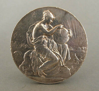 Alphee Dubois French silver medal. Hallmarked.