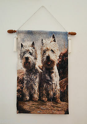DOG TAPESTRY ART WALL HANGING: WEST HIGHLAND TERRIER, Westie