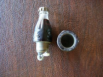 Vintage Coca Cola Advertising Mini Bottle Cigarette Novelty Lighter Works