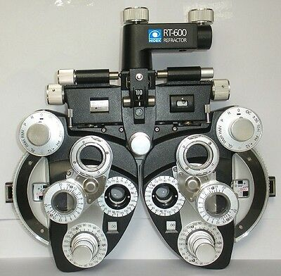 NIDEK MINUS CYL OPHTHALMIC PHOROPTER USED TO 6.00 DIOPTER CYL W/ROD/CARD/HOLD