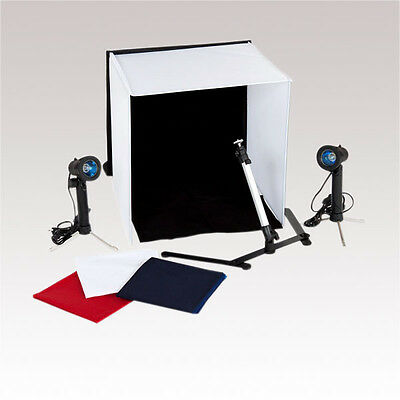 Medium Portable Photo Studio Lighting Kit Tent Cube With Tripod Lights Carry Bag