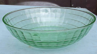 Block Optic green large berry bowl by Hocking glass