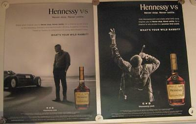 New Lot of 2 Store Display Paper Posters HENNESSY NAS & Formula One