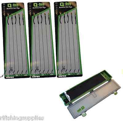 BRAND NEW CARP RIG WALLET 20 PINS 4PC DELUXE NEEDLE GIFT SET 18 HAIR RIGS