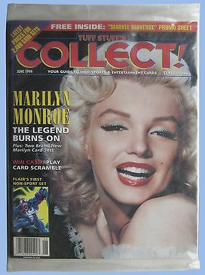 TUFF STUFF'S COLLECT - NON-SPORTS GUIDE - MARILYN MONROE COVER - SEALED - 1994